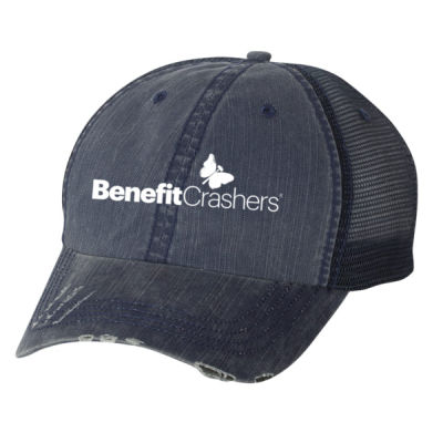 Herringbone Unstructured Trucker Cap - Embroidered Logo Thumbnail